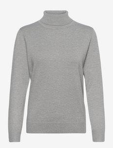 Pullover-knit Light - turtlenecks - light grey melange