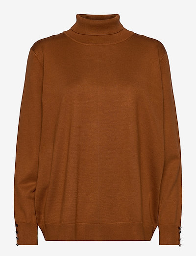 Pullover-knit Light - rullekraver - mocha bisque