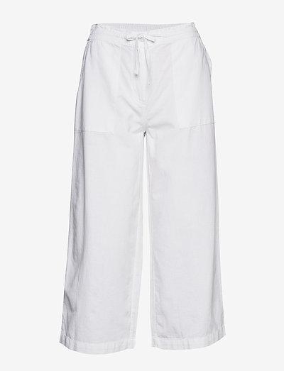 Capri pants - bukser med brede ben - white