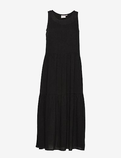 Dress-light woven - midi kjoler - black