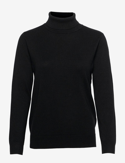 Pullover-knit Light - rullekraver - black