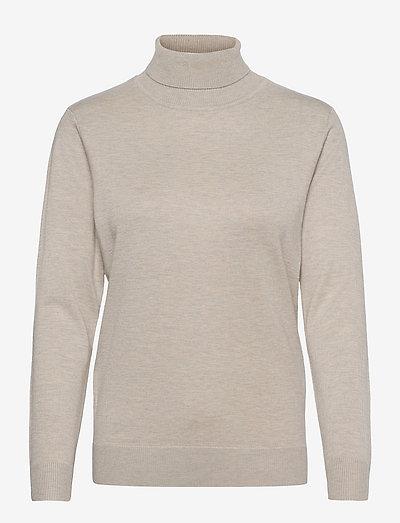 Pullover-knit Light - rullekraver - desert melange