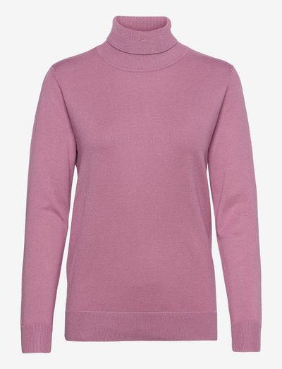 Pullover-knit Light - rullekraver - dried rose