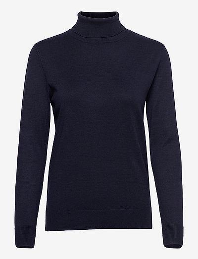 Pullover-knit Light - rullekraver - midnight blue