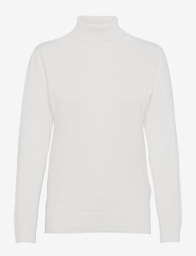 Pullover-knit Light - rullekraver - offwhite