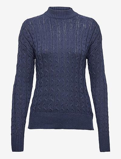 B. Copenhagen Pullover-knit Light - pulls à col roulé - navy