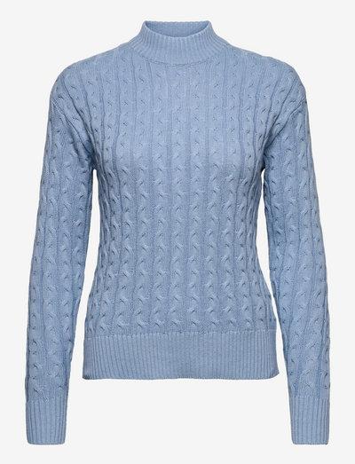 B. Copenhagen Pullover-knit Light - pulls à col roulé - soft chambray