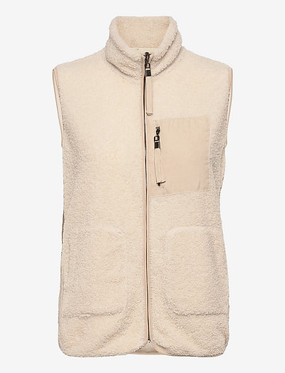 B. Copenhagen Waistcoat - vestes sans manches en tissu peluche - cream