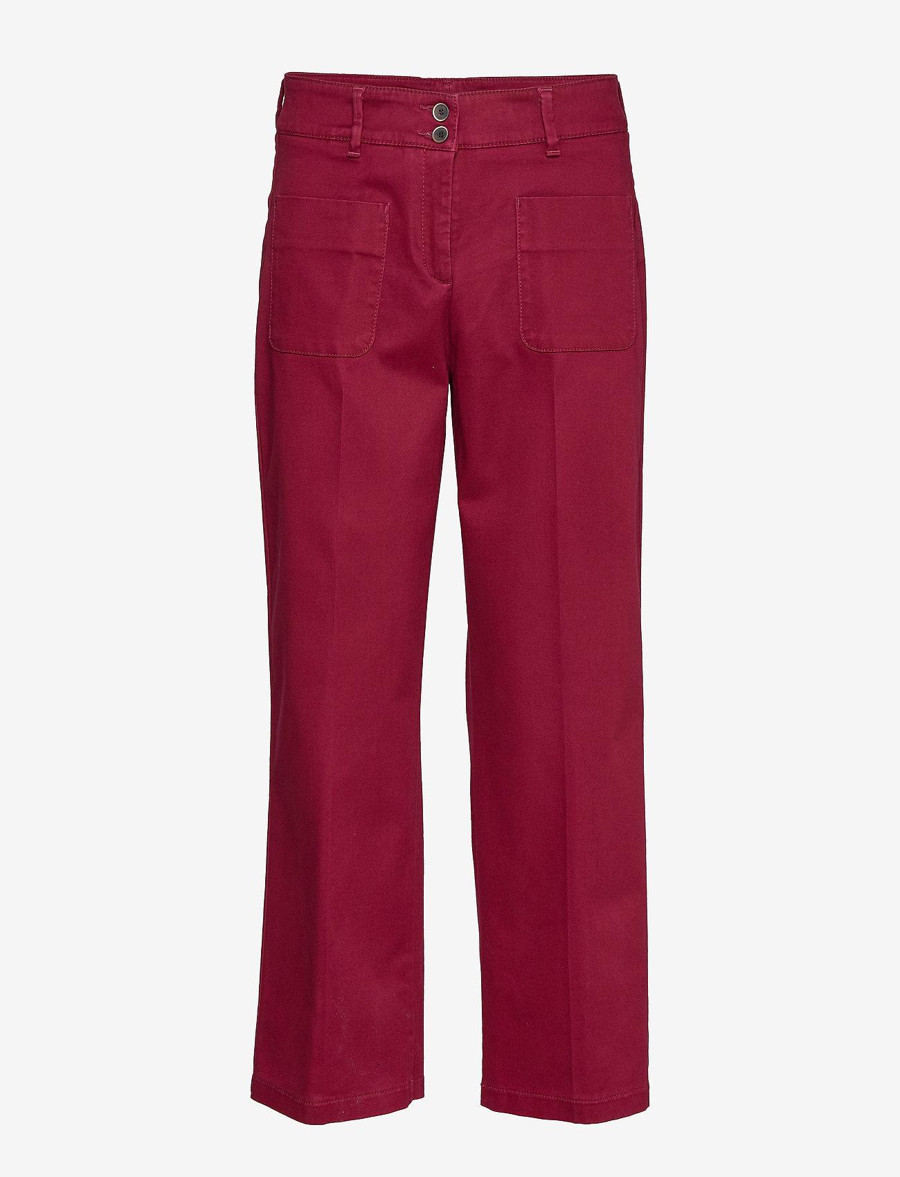 BRAX - MAINE S - wide leg trousers - cranberry - 0