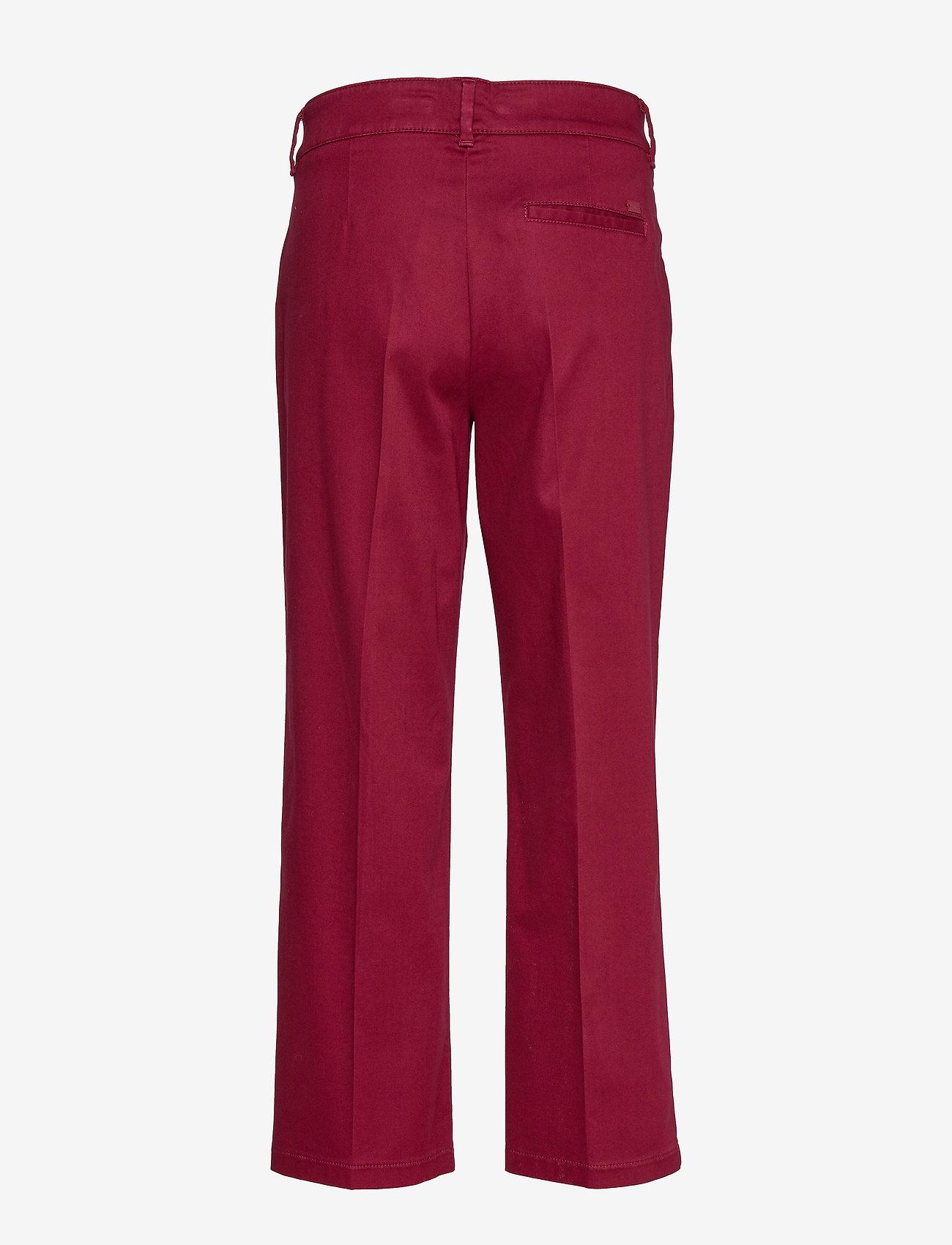 BRAX - MAINE S - wide leg trousers - cranberry - 1