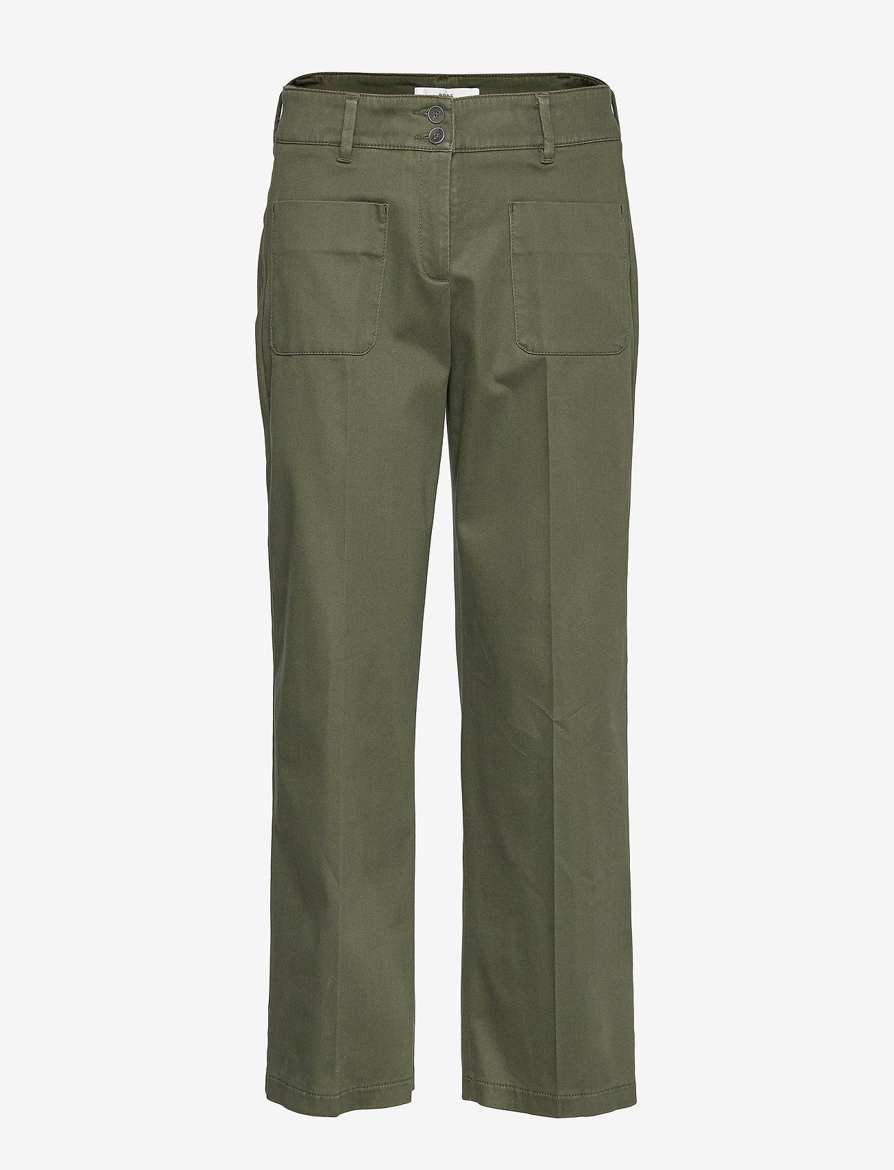 BRAX - MAINE S - wide leg trousers - khaki - 0