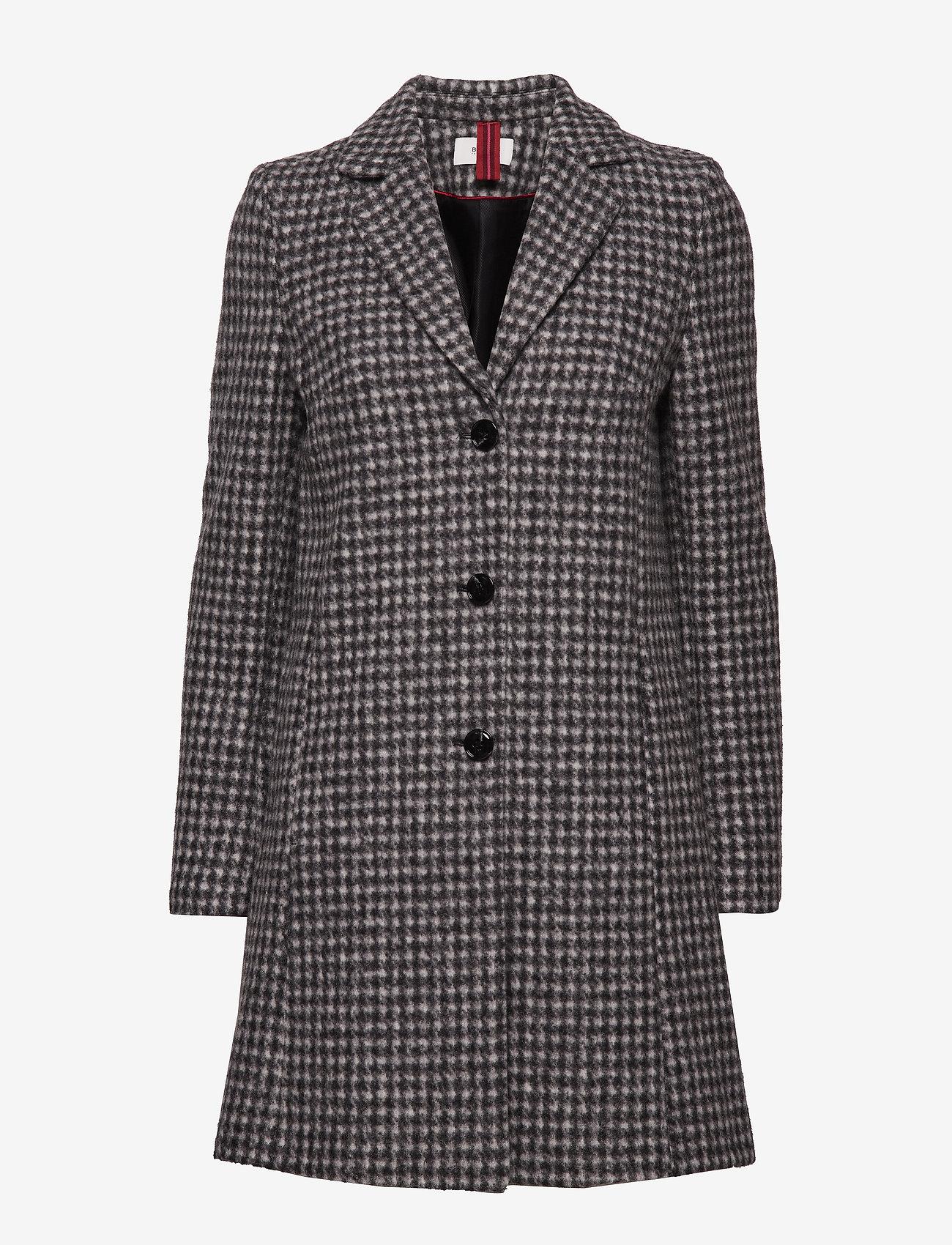 BRAX - DAVOS - wool coats - black/white