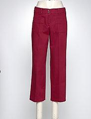 BRAX - MAINE S - wide leg trousers - cranberry - 2