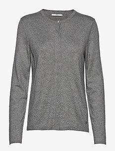 ANN - cardigans - grey mel.