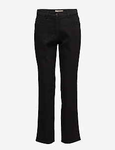 CAROLA - straight jeans - clean black black
