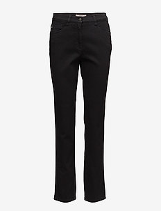 MARY - straight jeans - clean black black