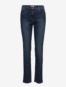 MARY - straight jeans - used regular blue