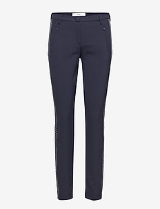 MILLS - slim fit trousers - navy