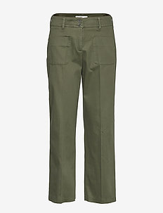 MAINE S - wide leg trousers - khaki