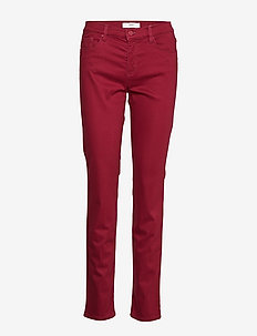 SHAKIRA - slim fit trousers - cranberry