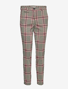 SIDNEY S - slim fit trousers - raspberry