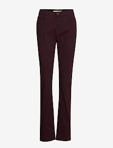 MARY - straight jeans - clean cranberry
