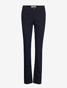 MARY - straight jeans - clean dark blue