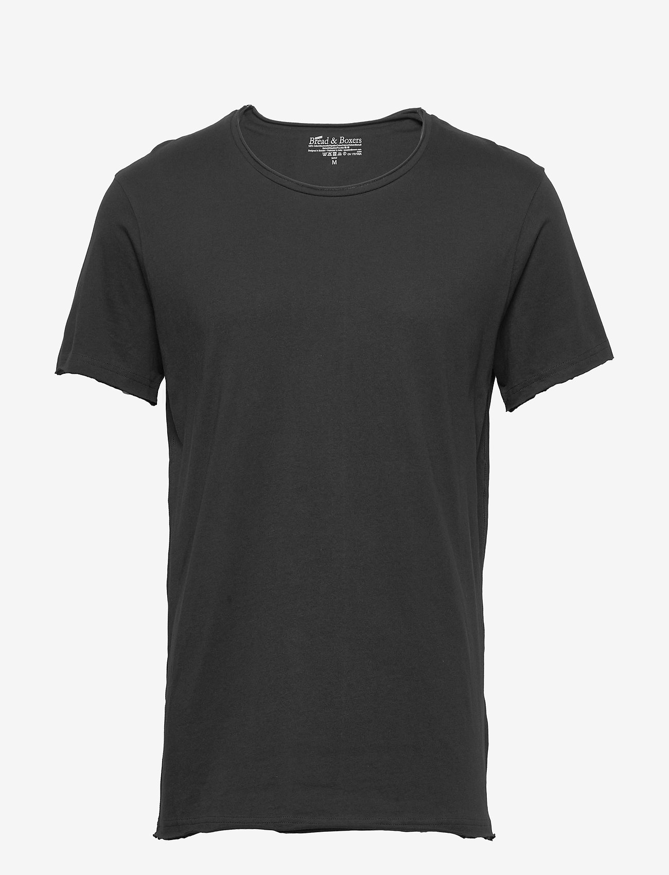 Bread & Boxers - Crew-Neck Relaxed T-shirt - basic t-shirts - black - 0