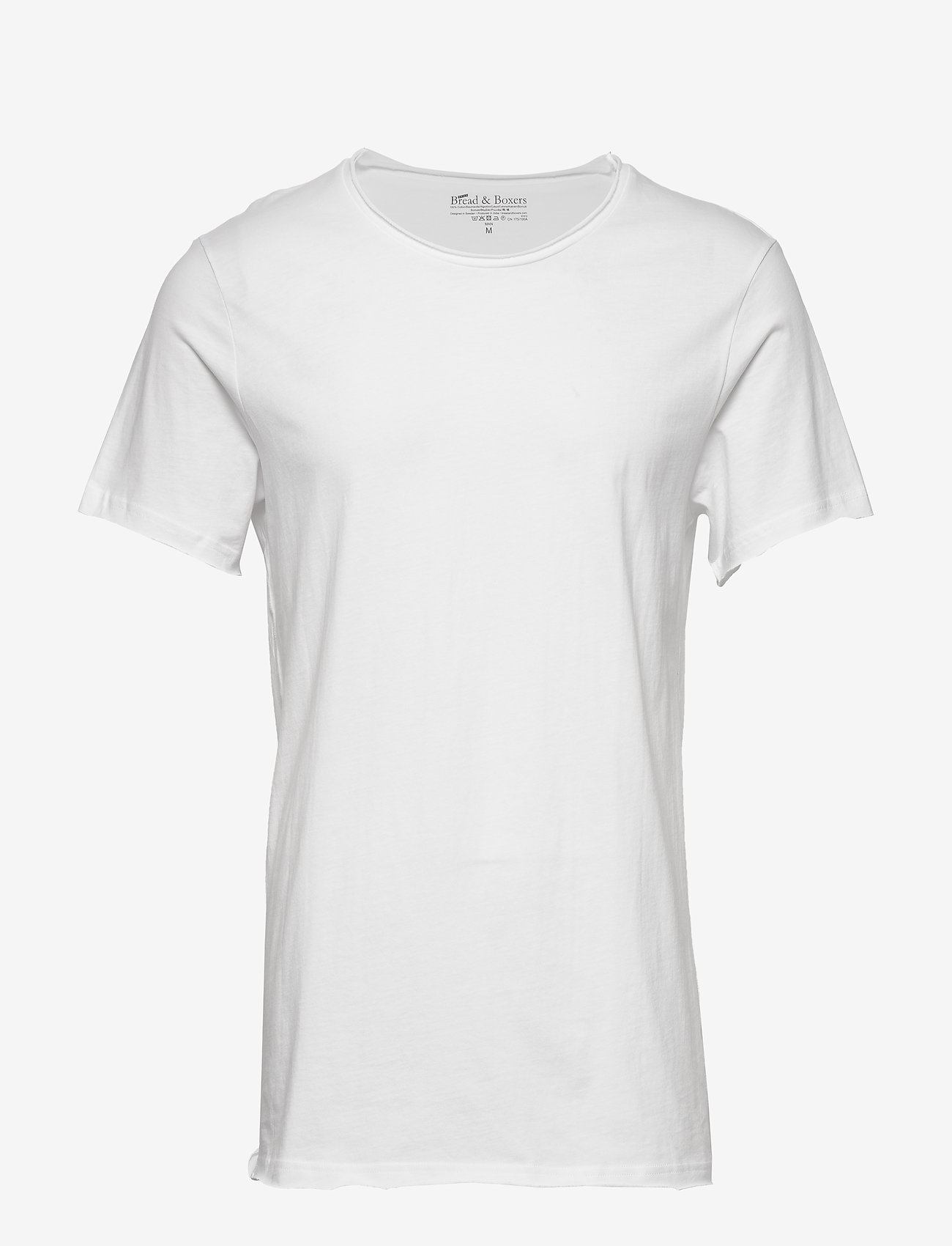 Bread & Boxers - Crew-Neck Relaxed T-shirt - basic t-shirts - white - 0