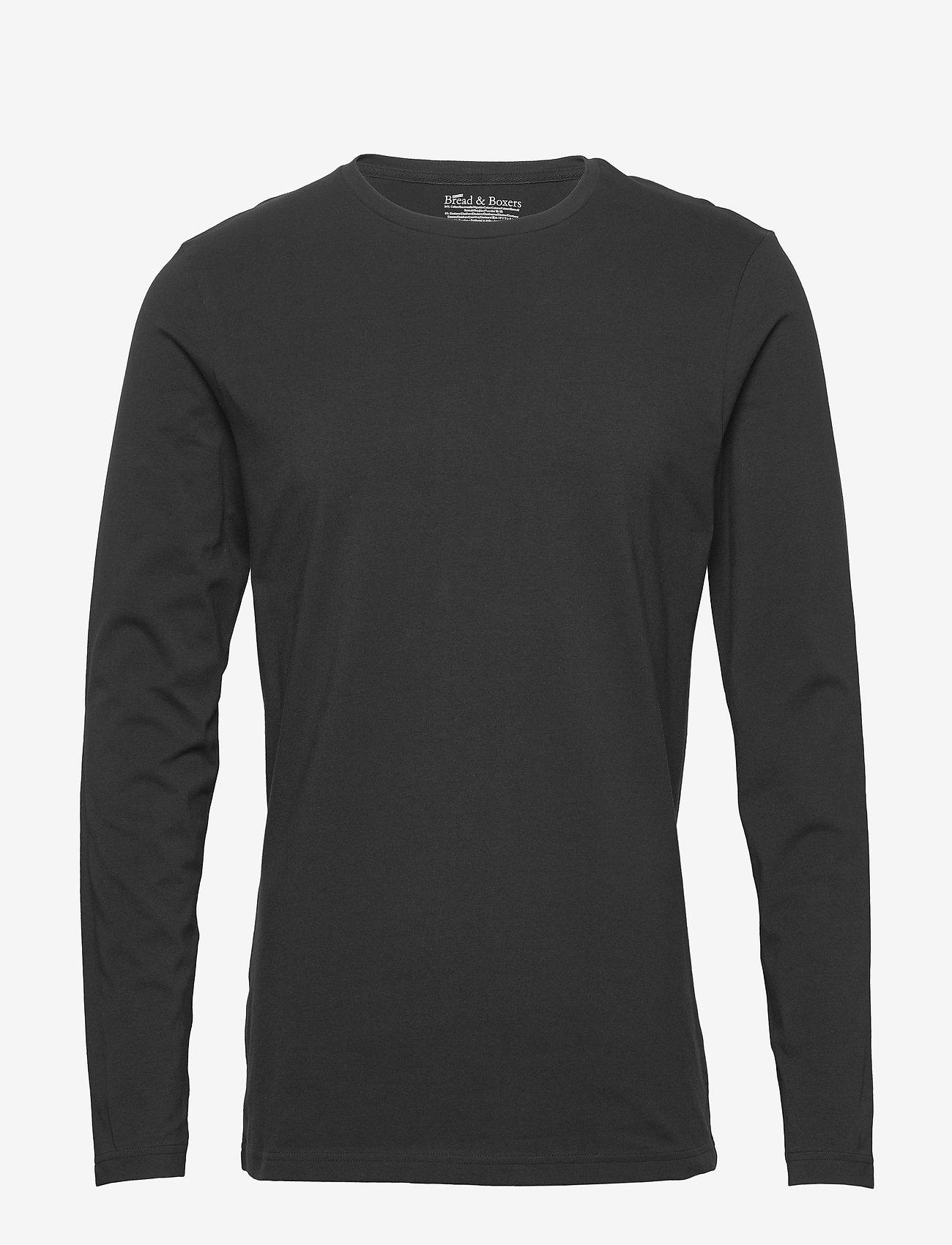 Bread & Boxers - Long sleeve - basic t-shirts - black - 0