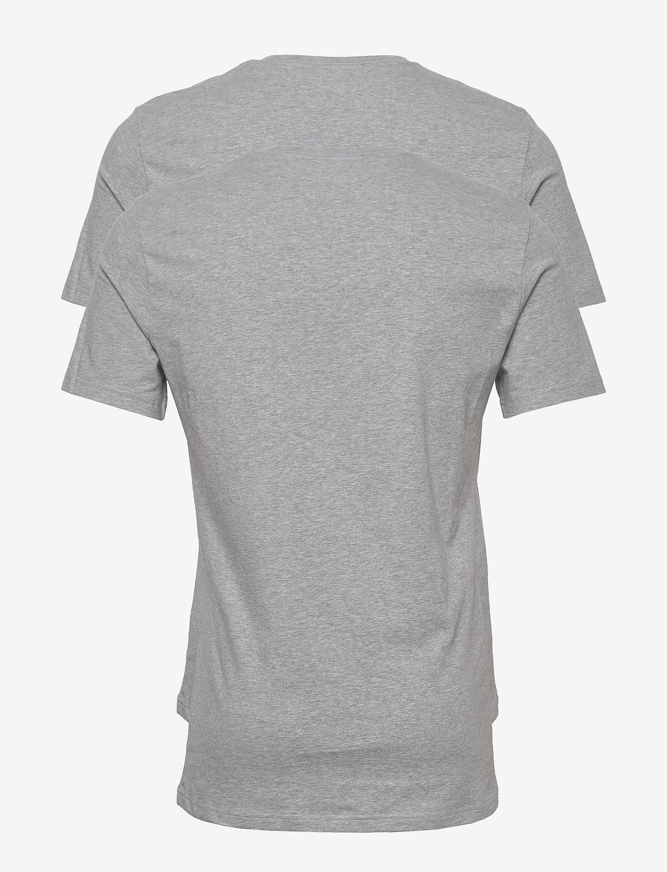Bread & Boxers 2-Pack Crew Neck - T-skjorter GREY MELANGE - Menn Klær