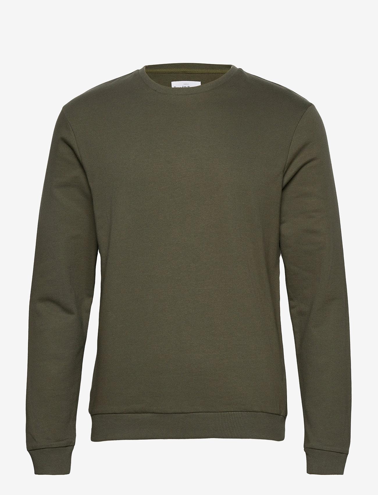 Bread & Boxers - Sweatshirt - truien - olive green - 0