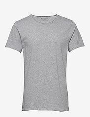 Bread & Boxers - Crew-Neck Relaxed T-shirt - basic t-shirts - grey melange - 0