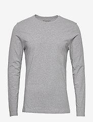 Bread & Boxers - Long sleeve - basic t-shirts - grey melange - 0