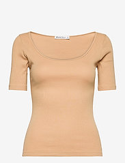 Bread & Boxers - T-shirt ribbed - t-shirts - beige - 0