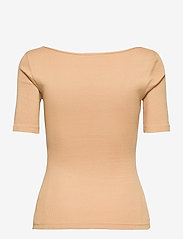 Bread & Boxers - T-shirt ribbed - t-shirts - beige - 1