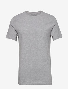 Crew-Neck T-shirt - basic t-shirts - grey melange