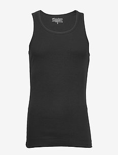 Tank Ribbed - basic t-shirts - black