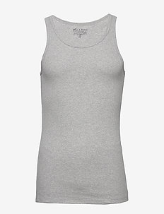 Tank Ribbed - basic t-shirts - grey melange