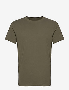 Crew-Neck Cotton - basic t-shirts - olive green
