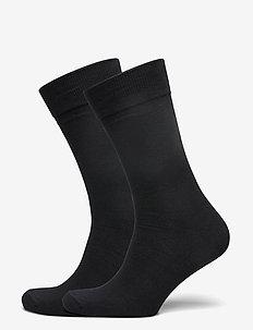 Socks 2-pack - tavalliset sukat - black