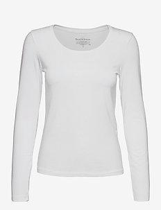 Long Sleeve - pikkade varrukatega alussärgid - white