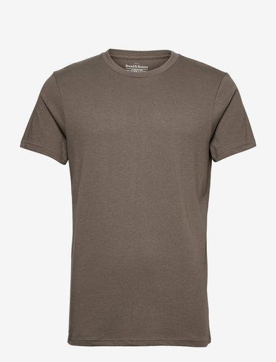Crew-Neck Cotton - t-shirts à manches courtes - mole grey