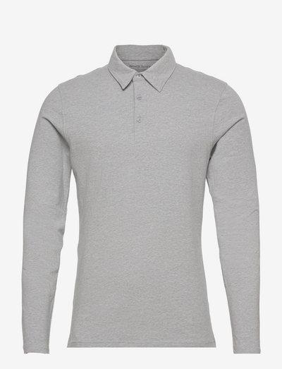 Long Sleeve Polo Shirt - långärmade pikéer - grey mélange