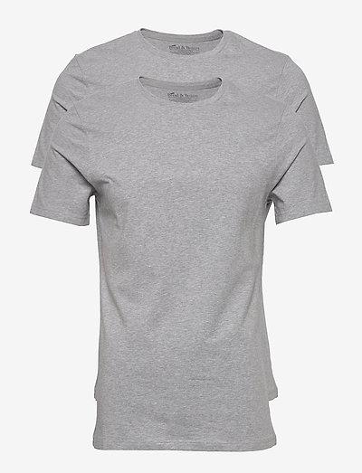 2-Pack Crew Neck - t-shirts basiques - grey melange