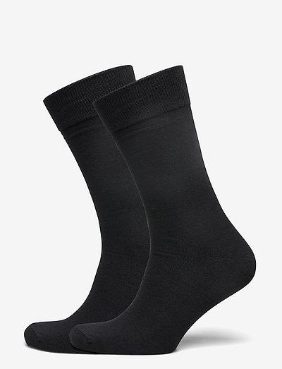 Socks 2-pack - normalne skarpetki - black