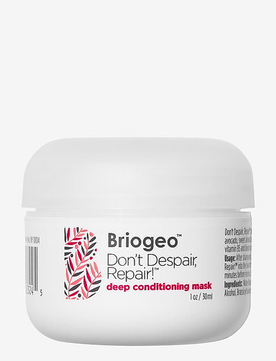 Briogeo Don't Despair, Repair! Deep Conditioning Mask 30 ml - hiusnaamiot - clear