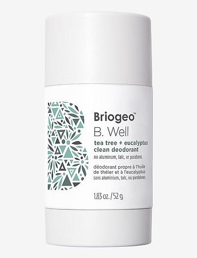 Briogeo B. Well Tea Tree and Coconut Clean Deodorant 52 g - deostift - clear