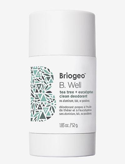 Briogeo B. Well Tea Tree and Coconut Clean Deodorant 52 g - deostifter - clear