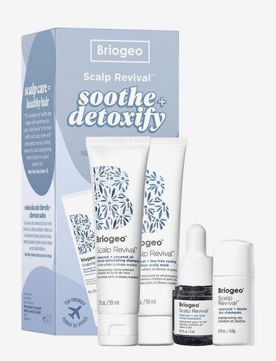 Briogeo Scalp Revival™ Soothe + Detoxify Hair Care Minis - hårvårdsset - clear